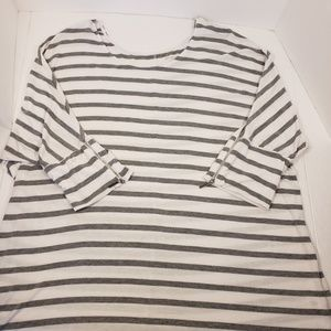 Lane Bryant Gray and White Striped Doleman 18/20